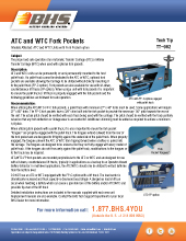 Tech Tip-962: ATC and WTC Fork Pockets