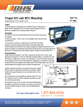 Tech Tip-963: Proper ATC and WTC Mounting