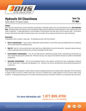 Tech Tip-904: Hydraulic Oil Cleanliness