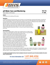 Tech Tip-906: pH Meter Care and Monitoring
