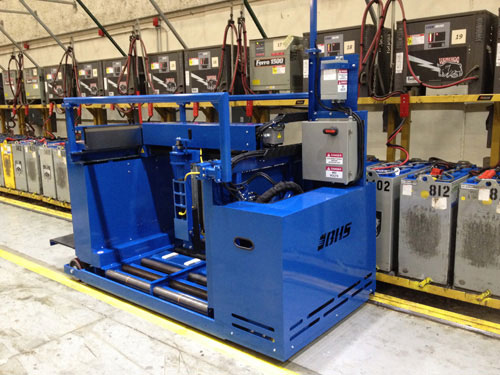 BE-MS forklift battery changer system