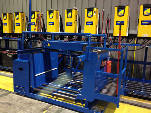BE-MS stand forklift battery changer