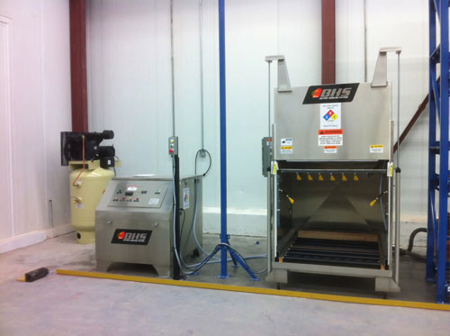 BWC RNS Forklift Battery Wash Equipment