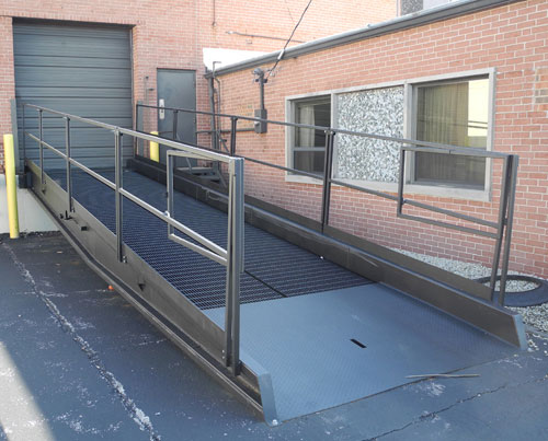 Dock Ramp DR-8430-16 with rails