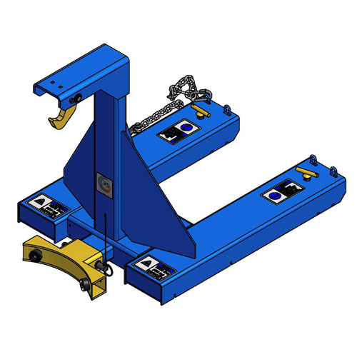 Forklift Attachment for Handling Drums DHA