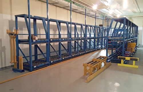 Forklift battery charging racks BS-DS