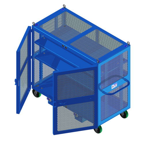 High Value Cart Blue Doors Open HVC