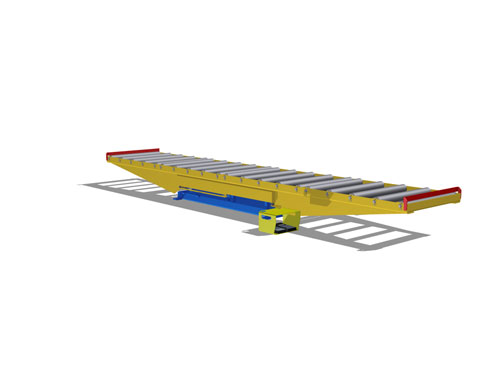 Lift Table large roller conveyor lowered