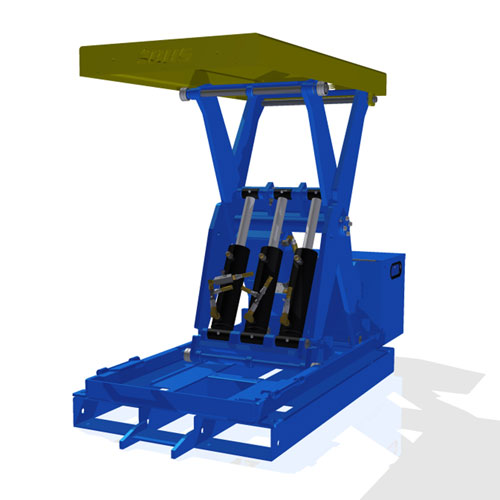 Lift Table with Fork Pockets LT4K raised