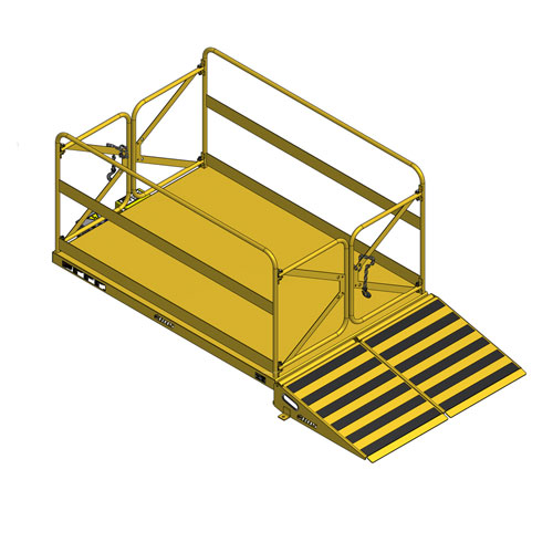 Lift Table with Man-lift and loading ramp lowered