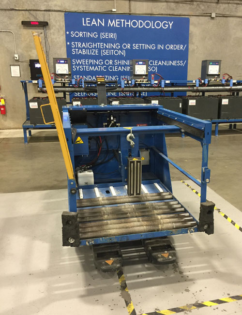 Magnet extraction ATC mounted on pallet truck