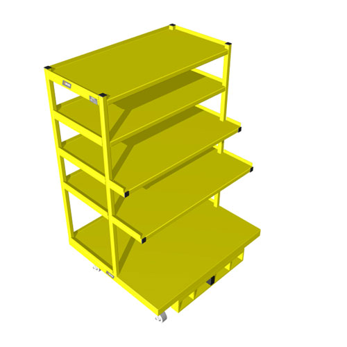 Order Picking Cart extended shelves 42 x 48 OPC