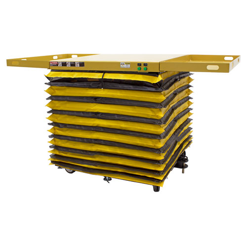 Powered-Mobile-Lift-Table-Lifted-with-Accordion-Skirt-Guard-PMLT-NS_ASG