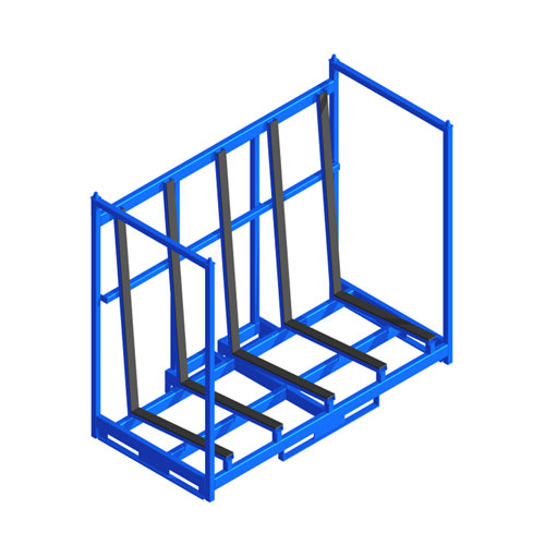 Sheet Material Rack front one level