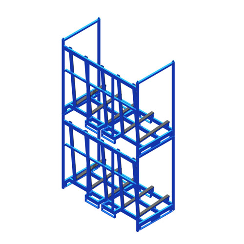 Sheet Material Rack two levels SMR