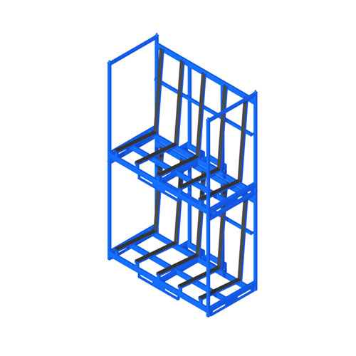 Sheet Material Rack two levels front SMR