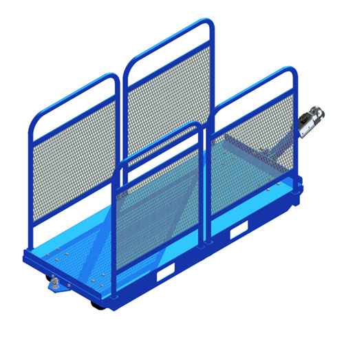 Tugger material cart with sides