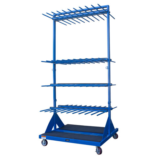 Vertical Storage Material Cart