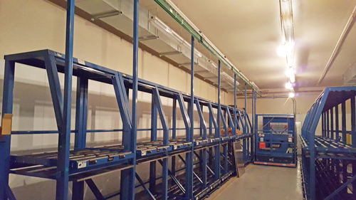 forklift battery charging room