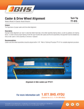 TT-915 - CASTER & DRIVE WHEEL ALIGNMENT