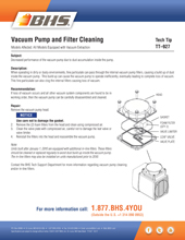 TT-927 - VACUUM PUMP AND FILTER CLEANING