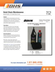 TT-932 - Hoist Chain Maintenance