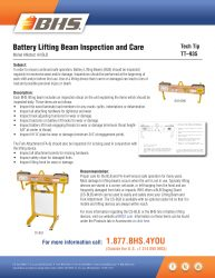 TT-935 - Battery Lifting Beam Inspection and Care