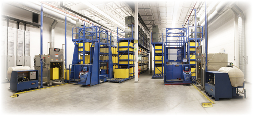 Forklift battery room design by BHS