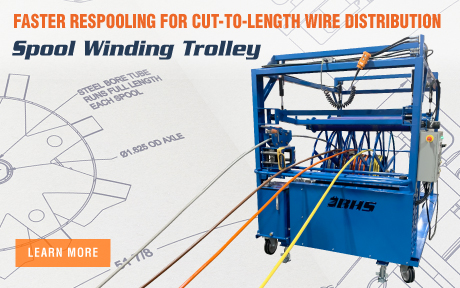 Spool Winding Trolley for Wire Distribution