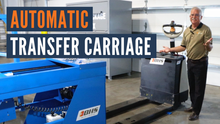 forklift battery changer - automatic transfer carriage