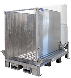 MWS-47-WT-SS Stainless Steel Mobile Wash Station with Water Tanks