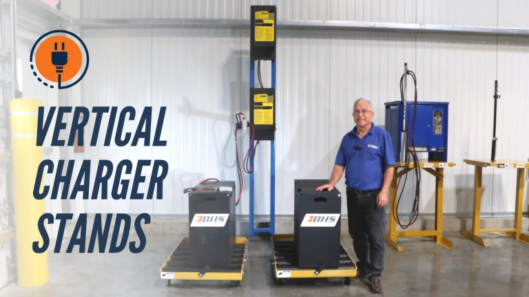 Vertical Charger Stands for Forklifts