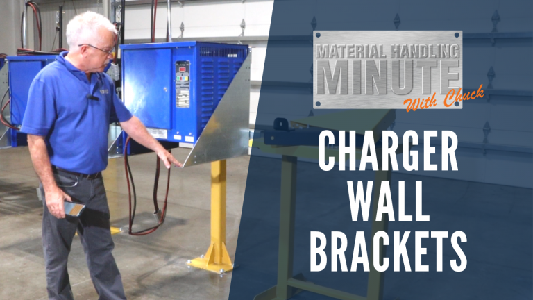 forklift charger wall brackets