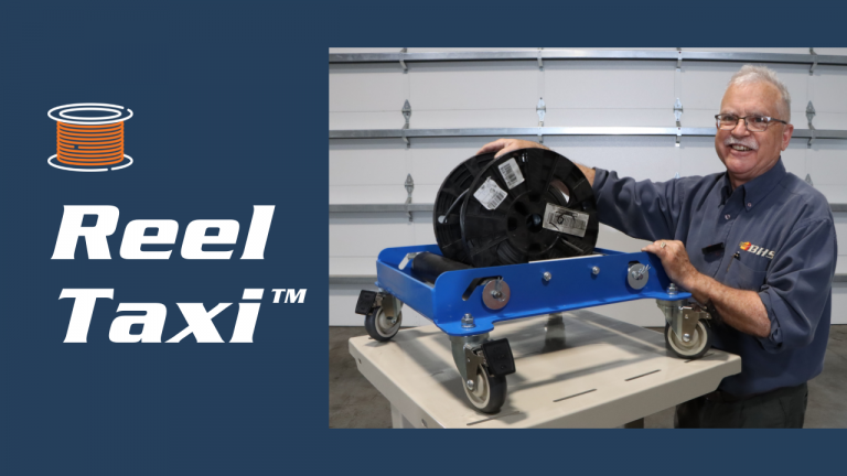 Reel Taxi Reel Roller for data cable installation