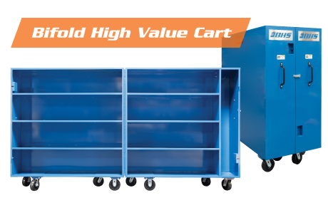 Bifold High Value Cart for Secure Storage