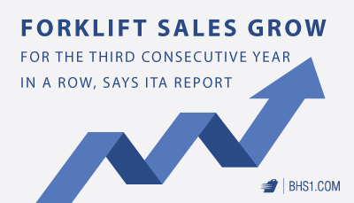 Forklift Sales Grow for the Third Consecutive Year in a Row