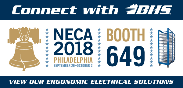 BHS hosts booth 649 at NECA 2018