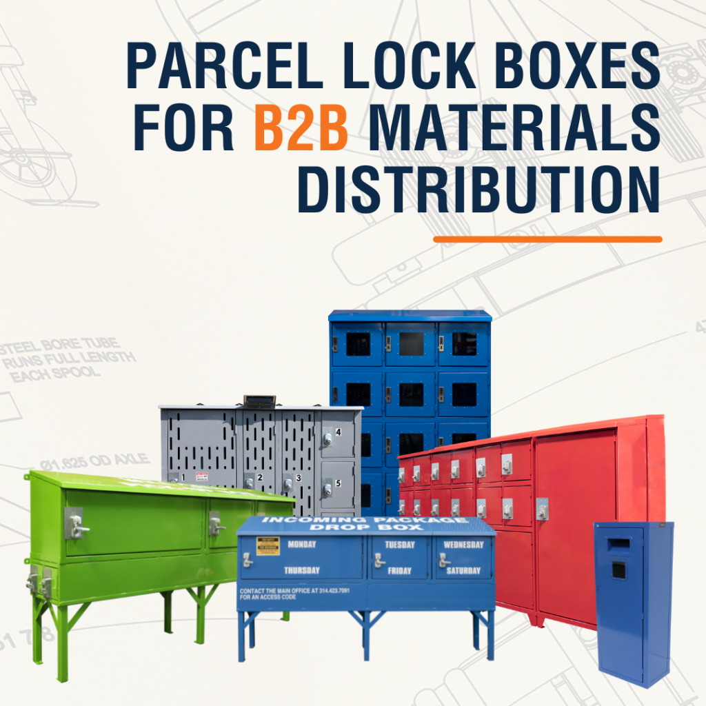 Parcel Lock Boxes for B2B Materials Distribution